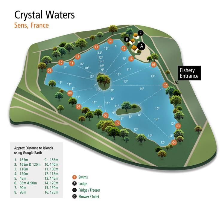 Crystal Waters Fishing lake Swim